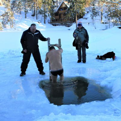 Как на «Озере Vita» Крещение отмечали 6